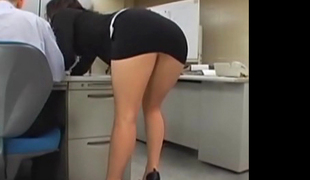 Japanese office girl gets fucked overwrought two