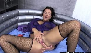 brunette tsjekkisk european fetish hd onani nylon solo squirt strømper