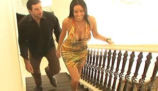 vakker stor kuk store pupper blowjob kropp brunette kuk kjole hjem jobb