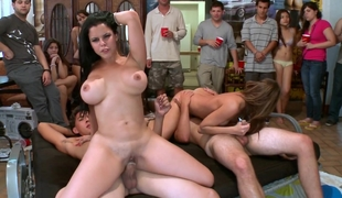 College dorm party with professional girls