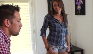 amerikansk babe vakker brunette sjarmerende ansikt pen kjønn tenåring hvit