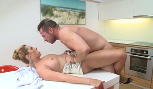 David Perry drills sex starved Daria Glowers mouth just like avid before she gets assfucked