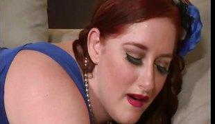 BBW redhead Reyna Mare gets banged very hard