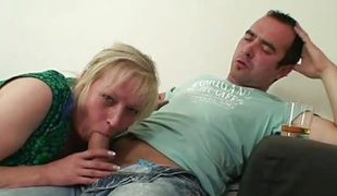 Naughty ancient mom takes daughter`s husband`s cock.