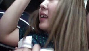 Desirable oriental teen fucked in a bus