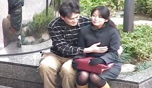 Asian hottie humiliated in public