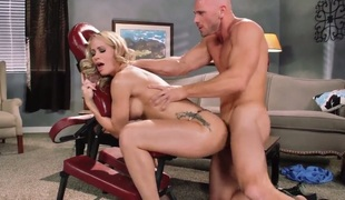 Sexy bodied blonde MILF Simone Sonay with nice big hooters screams analogous to crazy as that babe gets ehr pink wet pussy pounded doggystyle by horny Johnny Sins in burnish apply middle be required of burnish apply room. Shes on burnish apply way to orga