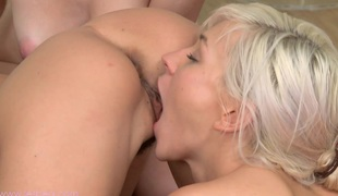 Lily, Tracy and other angelic babes are having energetic lesbian orgy