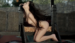 Nice-looking Valeria masturbating