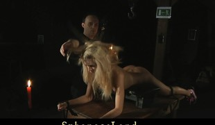 Erica Fontes restrained for bdsm fuck