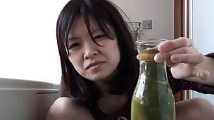 Oriental pees in a bottle