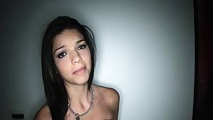 Pov latina teen on her knees