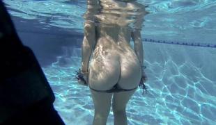 Spiralling away lesbian pool party