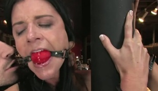 Pretty sexy angel knox suspended, dog play, thraldom and anal sex.