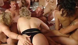 MILFs passionate orgy fuck