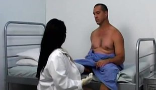 A oily swarthy nurse do sex with her patient