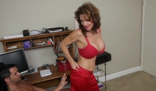 Since we are all alone... with breasty Mrs. Deauxma