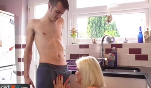 Agedlove older chubby blowjob and doggystyle
